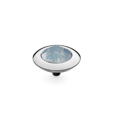 Qudo Silver 13mm Tondo Ring Top In Air Blue Opal