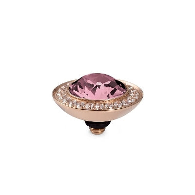 Qudo Rose Gold Tondo Deluxe Ring Top In Light Rose