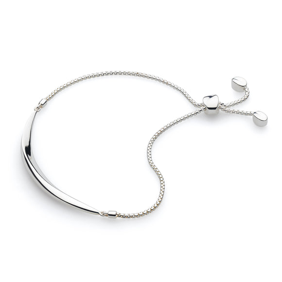 Kit Heath Silver Curve Toggle Bar Bracelet