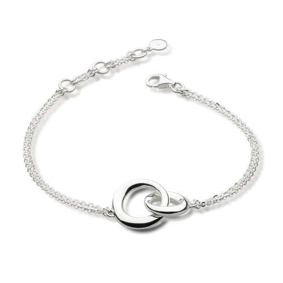 Kit Heath Double Circle Silver Bracelet