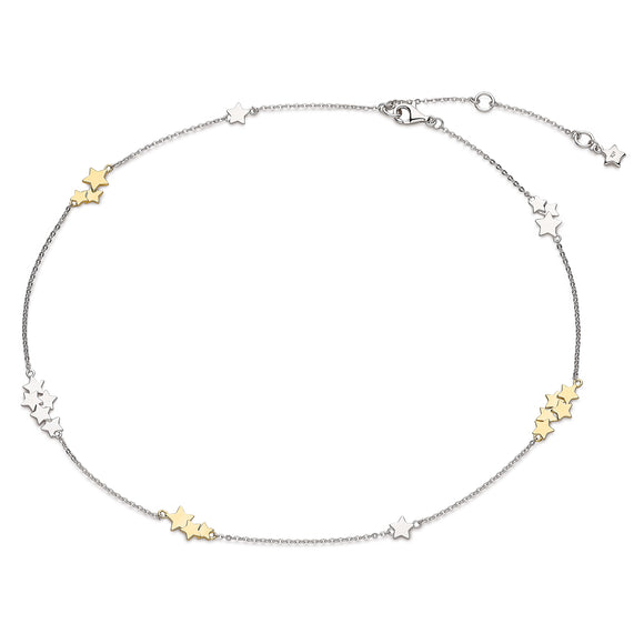 Kit Heath Silver Stargazer Stellar Two Tone Necklace