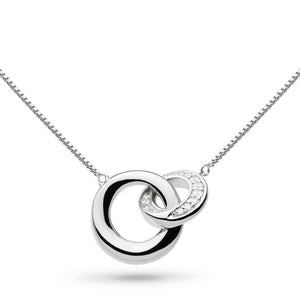 Kit Heath Silver Bevel Cirque CZ Necklace