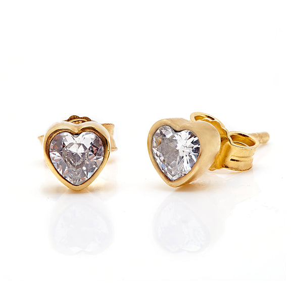 Annie haak gold crystal heart earrings