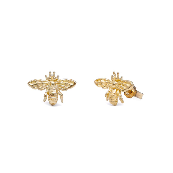 Annie haak tiny bee gold earrings