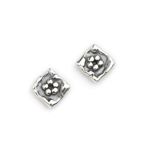Aviv Silver Flower Earrings