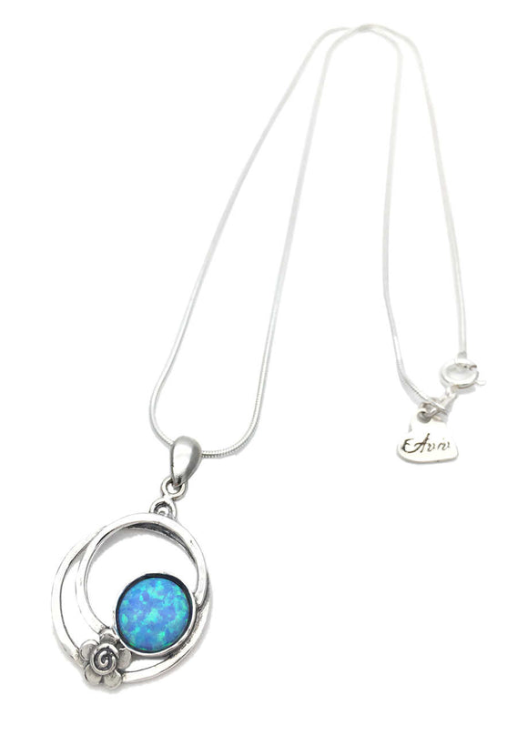 Aviv Silver Opal Necklace