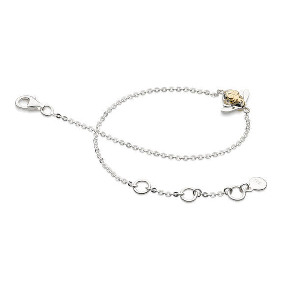 Kit Heath Silver Blossom Mini Bumblee Bracelet