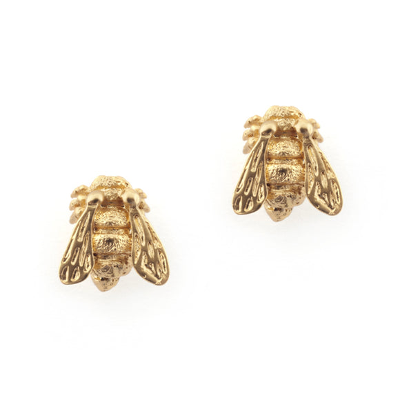 Bill Skinner Gold Plated Bee Earings