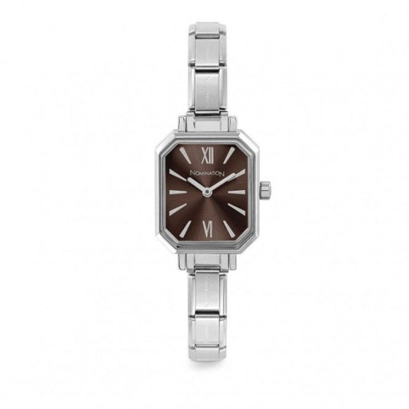Nomination Classic Paris Watch Rectangular Dark Brown Dial