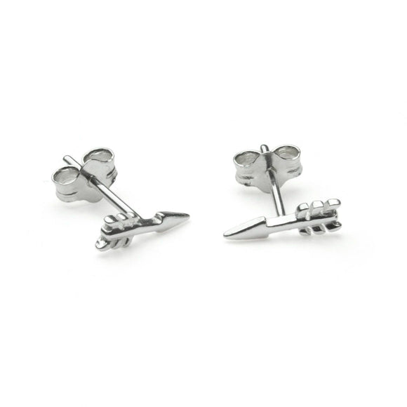 Dollie Silver Cupid's Arrow Studs