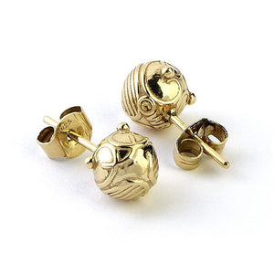 Harry Potter Silver Golden Snitch Studs
