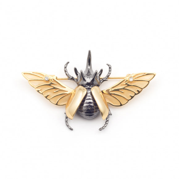 Bill Skinner Gold Plated Flying Beetle Brooch