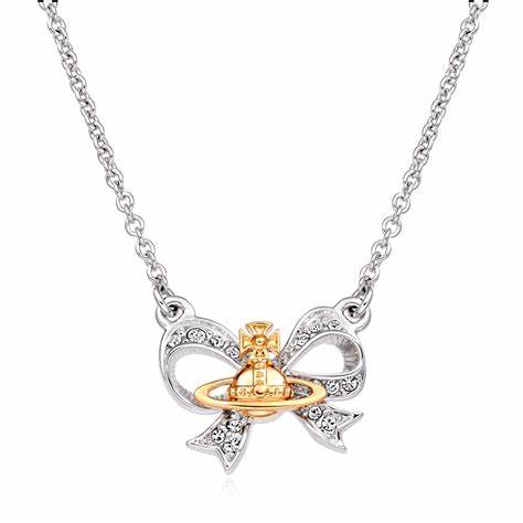 Vivienne Westwood Gail Necklace Silver And Gold Tone