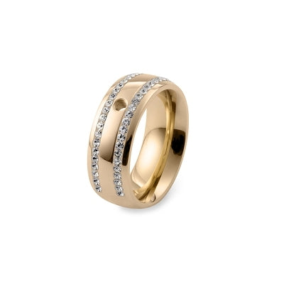 Qudo Deluxe Wide Ring Gold
