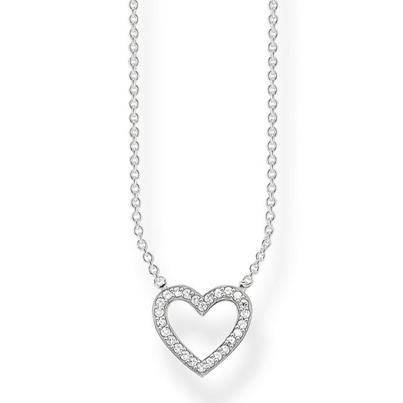 Thomas Sabo Silver Sparkle Heart Necklace