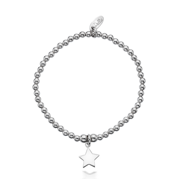 Little Dollie Kids Silver Vega Star Bracelet