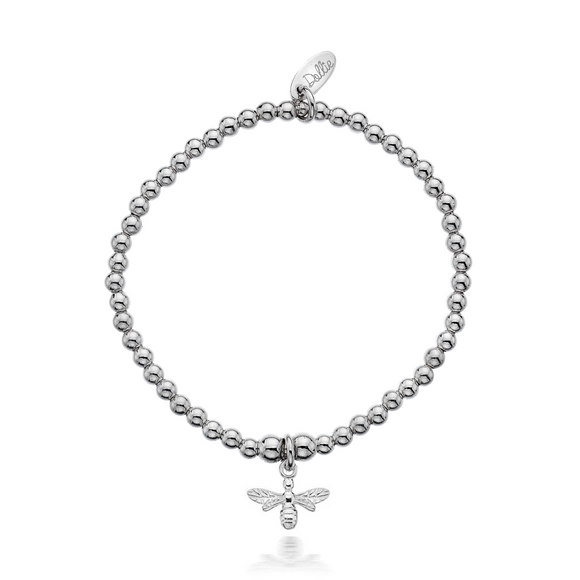 Little Dollie Kids Silver Bee Bracelet