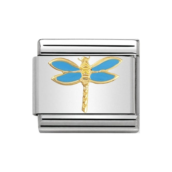 Nomination Blue Dragonfly Charm