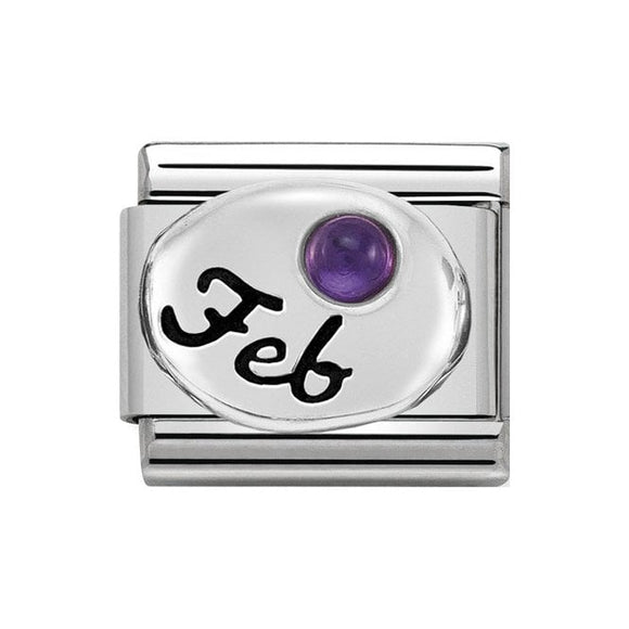Nomination Silver February Amethyst Charm