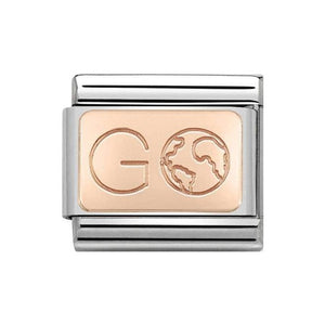 Nomination Rose Gold Go Earth Charm