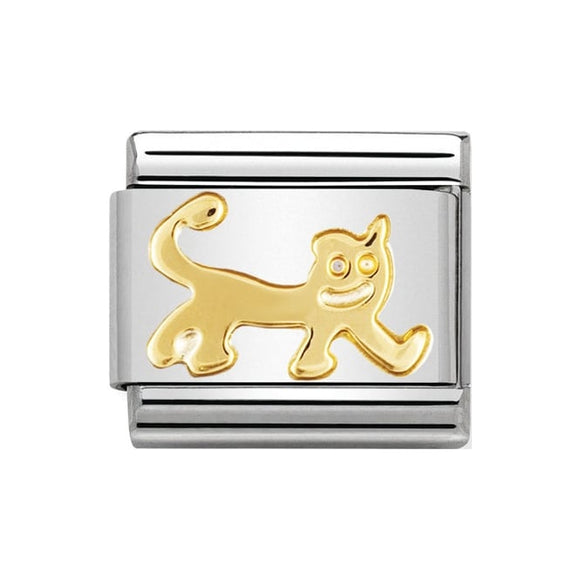 Nomination Gold Cat Charm