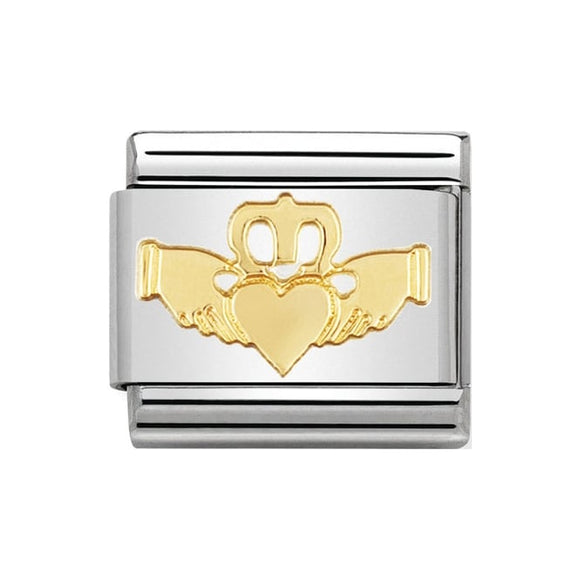Nomination Gold Claddagh Charm