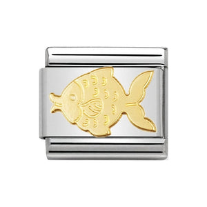 Nomination Gold Fish Charm