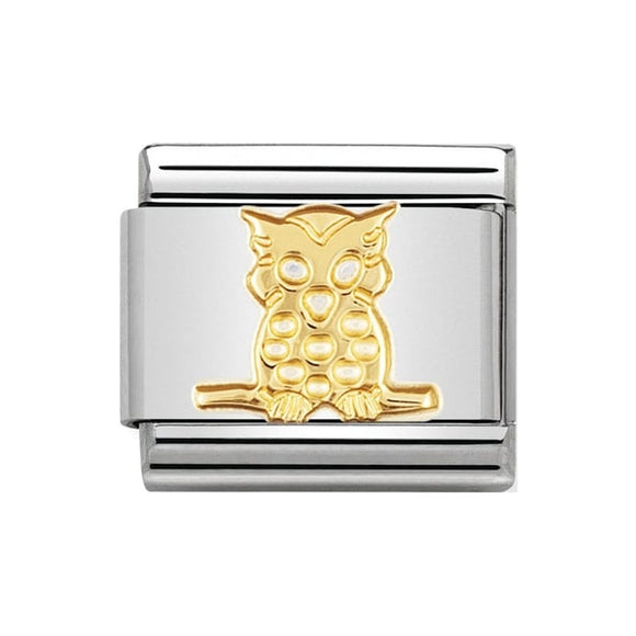 Nomination Gold Owl Charm