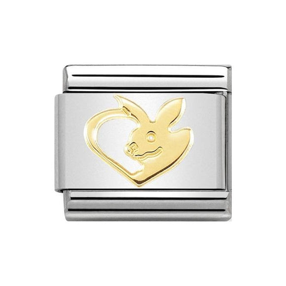 Nomination Gold Rabbit Heart Charm
