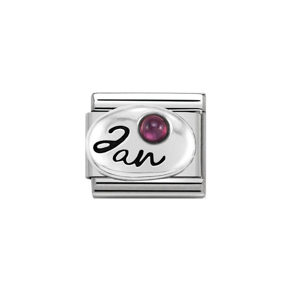 Nomination Silver January Garnet Charm