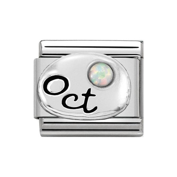 Nomination Silver October Opal Charm