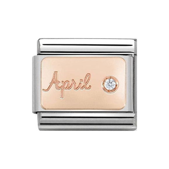 Nomination Rose Gold April Charm