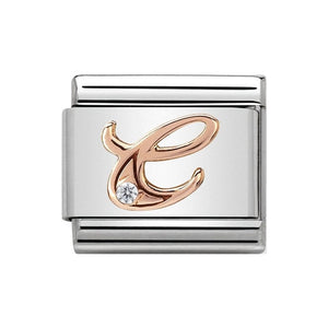 Nomination Rose Gold CZ Letter C Charm