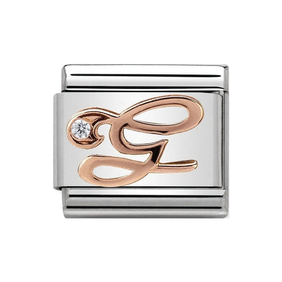 Nomination Rose Gold CZ Letter G Charm