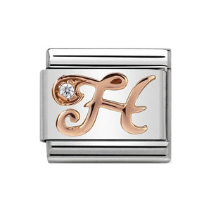 Nomination Rose Gold CZ Letter H Charm
