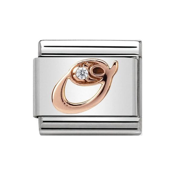 Nomination Rose Gold CZ Letter O Charm