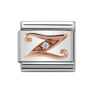 Nomination Rose Gold CZ Letter Z Charm