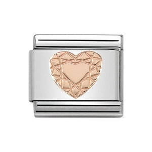 Nomination Rose Gold Diamond Heart Charm