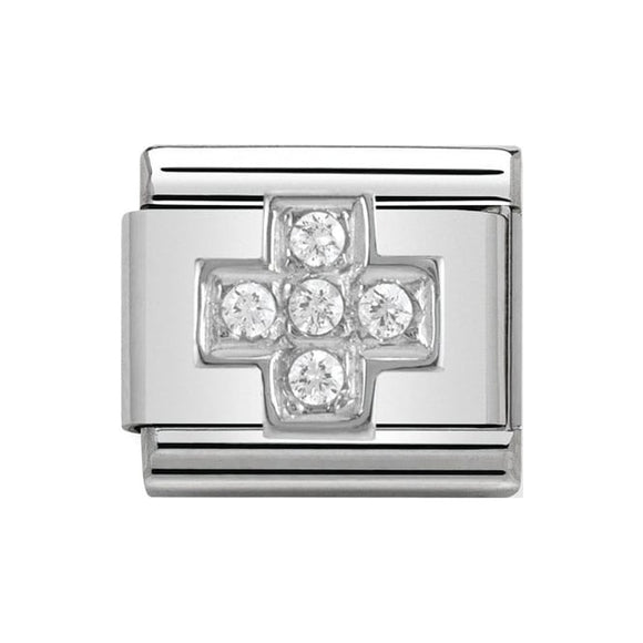Nomination Silver CZ Cross Charm