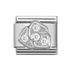 Nomination Silver CZ Rose Charm