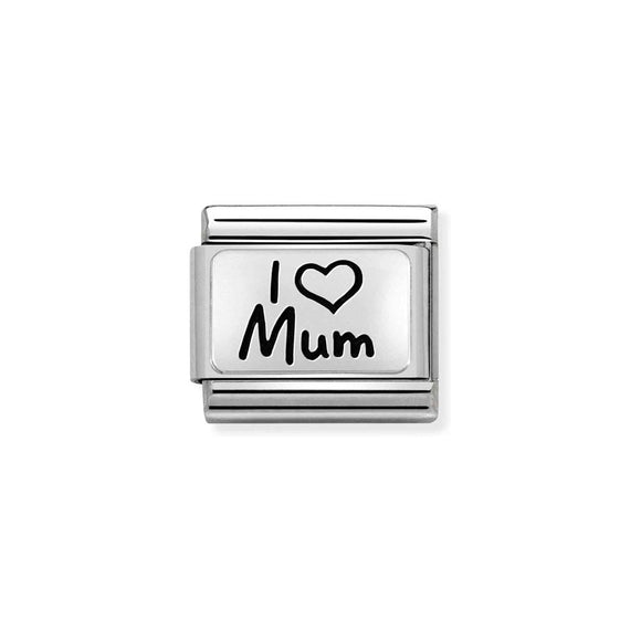Nomination Silver I Love Mum Charm
