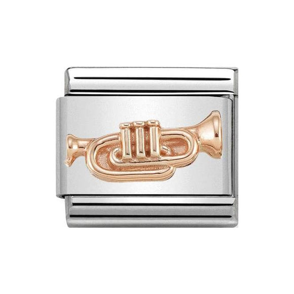 Nomination Rose Gold Trumpet Charm