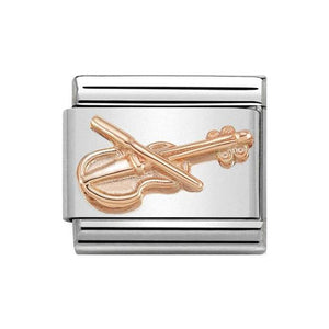 Nomination Rose Gold Violin Charm