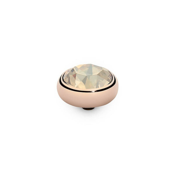 Qudo Rose Gold 10mm Sesto Ring Top In Golden Shadow