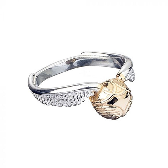 Harry Potter Silver Golden Snitch Ring