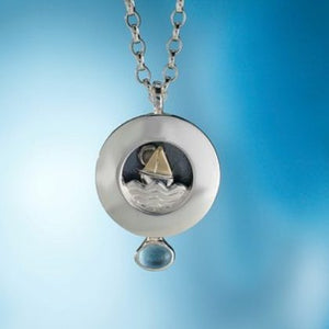 Alan Ardiff Silver Sail Away Necklace