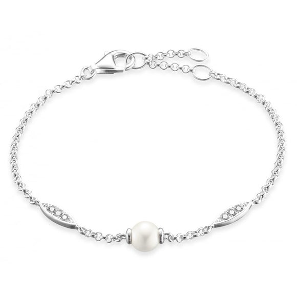 Thomas Sabo Silver Pearl And Cubic Zirconia Bracelet