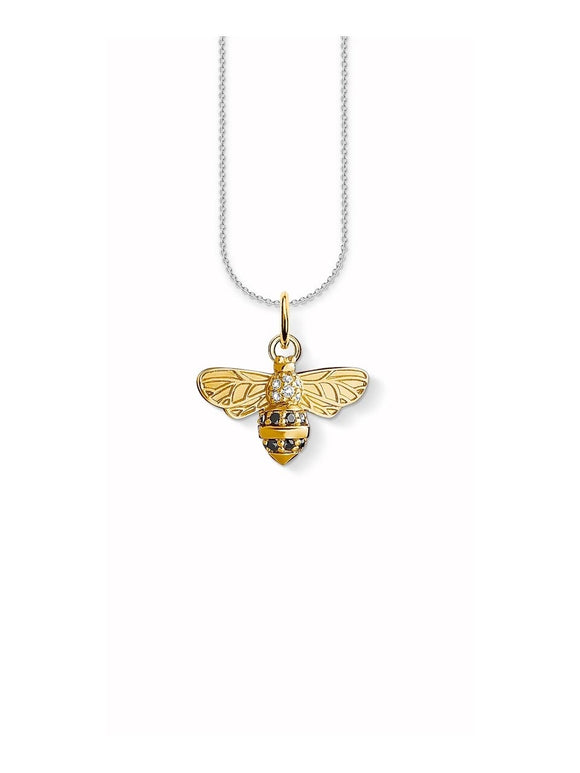 Thomas Sabo Silver And 18ct Gold Plated Bee Necklace