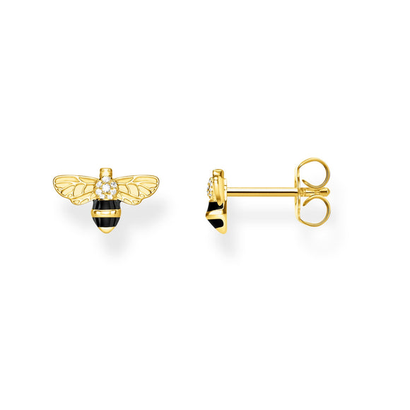 Thomas Sabo 18ct Gold Plated Bee Earrings
