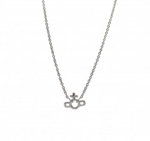 Vivienne Westwood Silver Tone Magnus Small Necklace